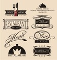 Restaurant signs symbols and logos vector image vector image