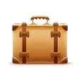retro suitcase luggage bag vector image vector image