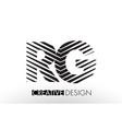 rg r g lines letter design with creative elegant vector image
