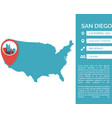 san diego map infographic vector image