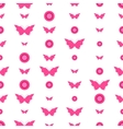Seamless pattern with butterflies and circles vector image vector image