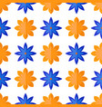 seamless pattern with flowers in flat style vector image vector image