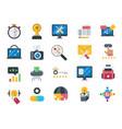 seo and web optimization icons set vector image vector image