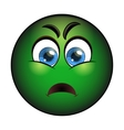 Sick green smiley Emoticon with nausea vector image