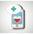 smartphone cross service medical vector image vector image