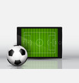 soccer or football in front an electronic vector image