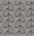 sunflower seed seamless pattern on grey background vector image vector image