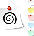 Swirl icon vector image vector image