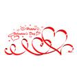 valentine hearts vector image