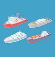 water transport cargo shipment sea set vector image vector image