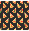 Set of pizza slices with different toppings vector image