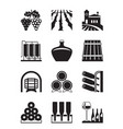 vineyard icon set vector image