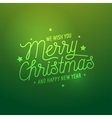 Merry Christmas light green background vector image