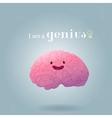 Brainstorm happy brain vector image