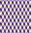 Abstract isometric violet cube pattern background vector image