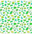 abstract seamless pattern with many items vector image vector image