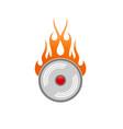 alarm fire clock icon vector image