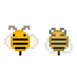 alive and deceased pixel bee - isolated vector image vector image