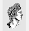 apollo belvedere sculpture black and white vector image vector image