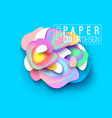 banner layout design paper cut style vector image