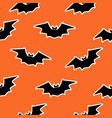 bat seamless pattern halloween design black vector image