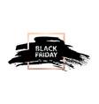 black friday sale banner grunge spot in golden vector image