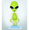 Cartoon Toilet Alien vector image vector image