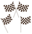 Checkered flag drawing vector image vector image