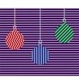 christmas balls colorfull vector image vector image
