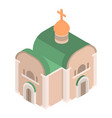 church icon isometric style vector image vector image