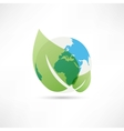 clean planet earth icon vector image vector image