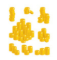 coins of gold in stacks vector image vector image