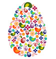Colorful egg shape vector image