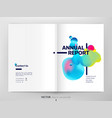 cover design annual report liquid color fluid vector image vector image