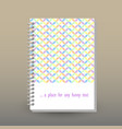 cover of diary cute pastel geometrical pattern vector image vector image