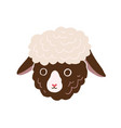 cute little sheep face head portrait of funny vector image vector image