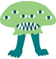 cute monster color character funny design element vector image