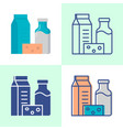 dairy products icon in flat and line style vector image vector image