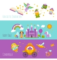 Fairy Tale Banner Set vector image vector image