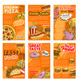 fast food restaurant lunch snack posters vector image vector image