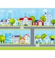 Flat Town vector image vector image