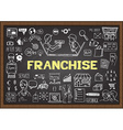 Franchise on chalkboard vector image vector image