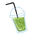 freshly made juice or smoothie with real fruits vector image