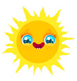 Funny sun with smile