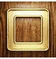 golden and wood background vector image