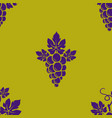 grape branch seamless pattern vector image