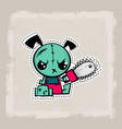 halloween stitch dog zombie puppy voodoo doll vector image vector image