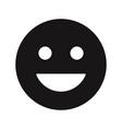happy smile icon vector image