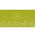 Hello spring letters on meadow blurred background vector image