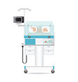 infant incubator technology with new born baby in vector image vector image